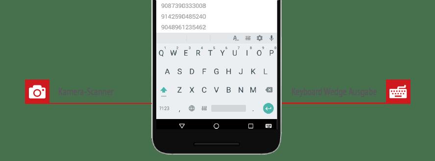 Barcodes mit jeder App scannen! Android-Tastatur mit