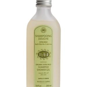 shampoo doccia extra dolce con olio d'oliva e aloe vera certificato biologico marius fabre tec-terreecolori calestano-parma