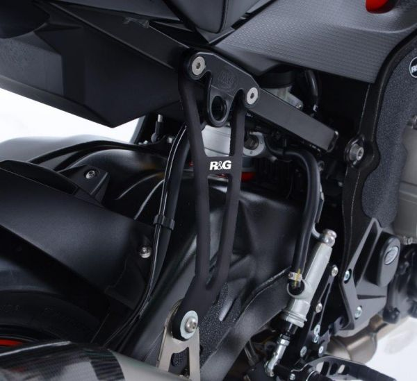 exhaust bracket for black for bmw s1000r 2017 2020 for akrapovic exhaust
