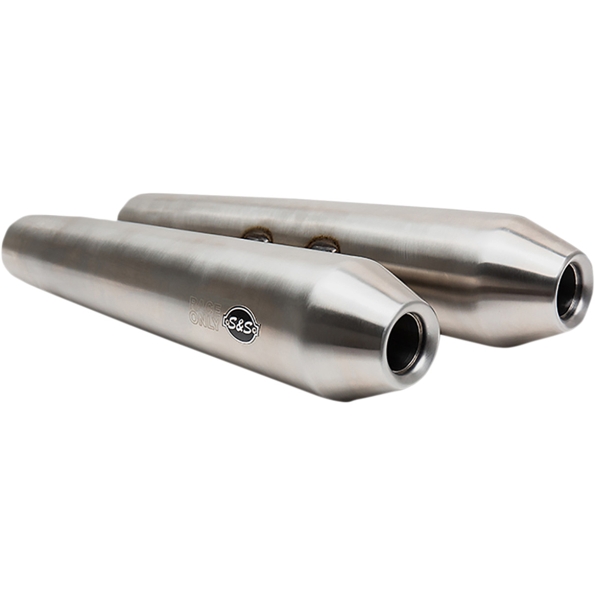 s s cycle slip on pair of stainless steel performance exhaust silencers