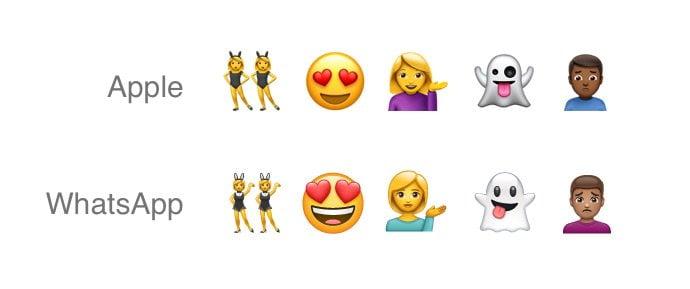 WhatsApp x Apple emojis