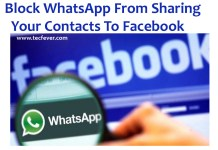 Block WhatsApp From Sharing Your Contacts To Facebook