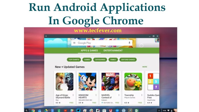 Run Android Applications In Google Chrome