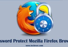 Password Protect Mozilla Firefox Browser