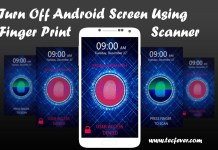 Turn Off Android Screen Using Finger Print Scanner