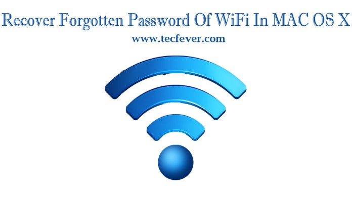 Recover Forgotten Password Of WiFi In MAC OS X