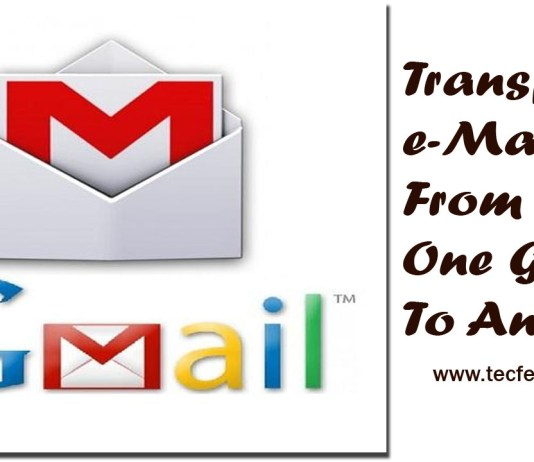 Transfer Emails From One Gmail To Another