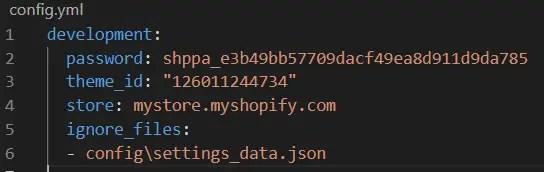 config.yaml file with igonre rule