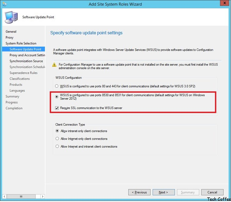 SCCM Software Update PART 2 – Software Update Point configuration
