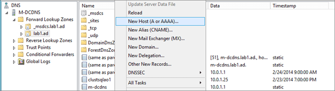 AlwaysOn Availability Group WSFC Cluster Creation -