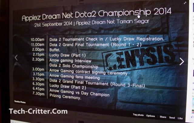 Brief coverage of the Applez Dream Net Dota 2 Championshio 2014 by TTEsports 62
