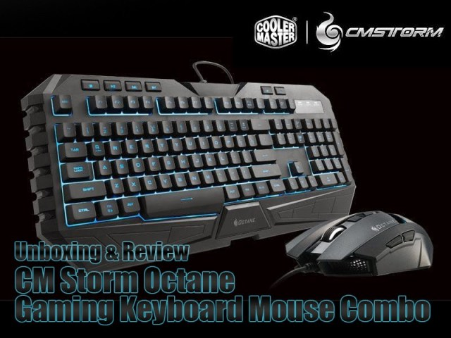 Unboxing & Review: Cooler Master CM Storm Octane Gaming Keyboard Mouse Combo 1