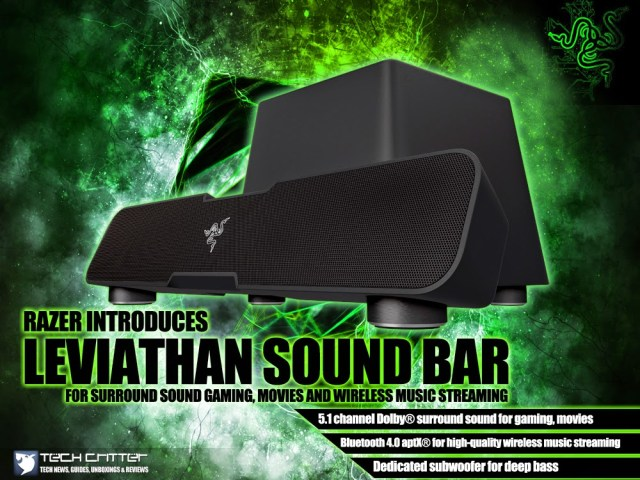 RAZER INTRODUCES LEVIATHAN SOUND BAR FOR SURROUND SOUND GAMING, MOVIES AND WIRELESS MUSIC STREAMING 11