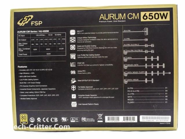 Unboxing & Overview: FSP Aurum 600W and Aurum CM 650W 81
