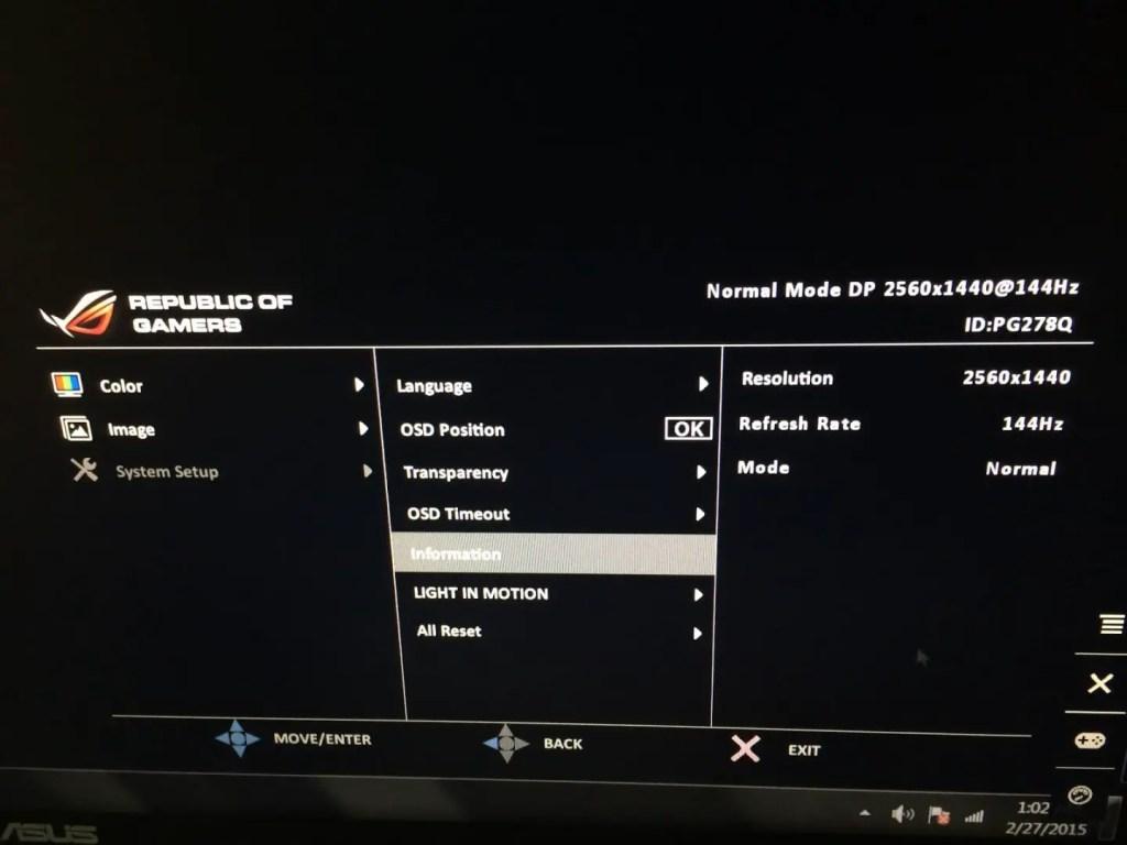 Review: ASUS ROG SWIFT PG278Q G-SYNC Gaming Monitor 15
