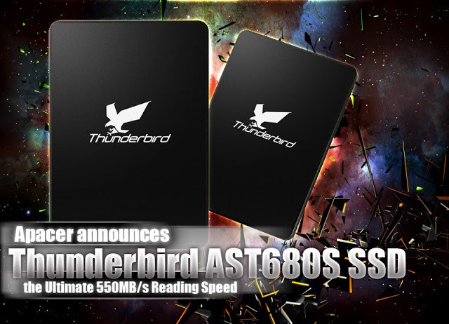 Apacer announces the Thunderbird AST680S SSD, the Ultimate 550MB/s Reading Speed 1