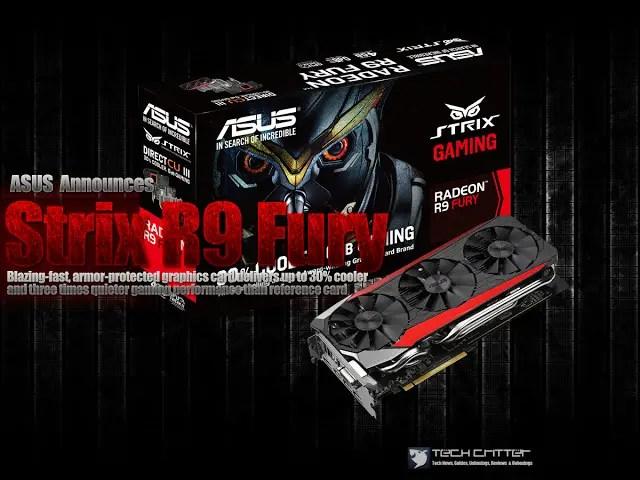 ASUS Announces Strix R9 Fury 3