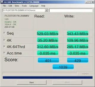 Plextor M6V 256 GB SSD Review 17