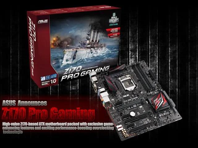 ASUS Announces Z170 Pro Gaming 1