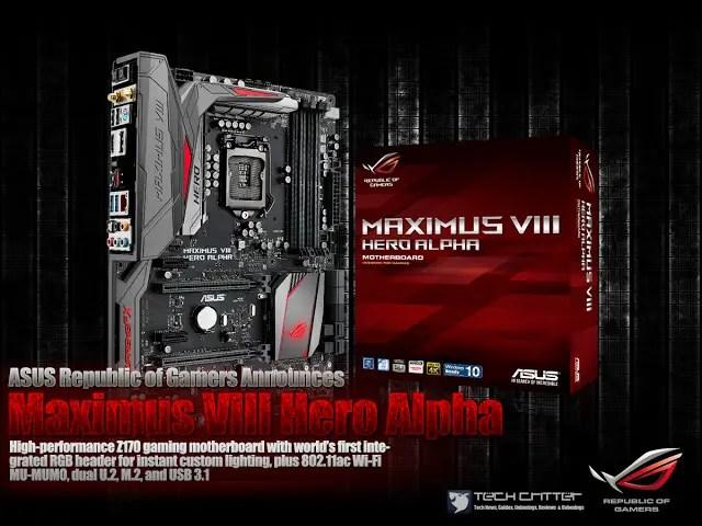 ASUS Republic of Gamers Announces Maximus VIII Hero Alpha 3