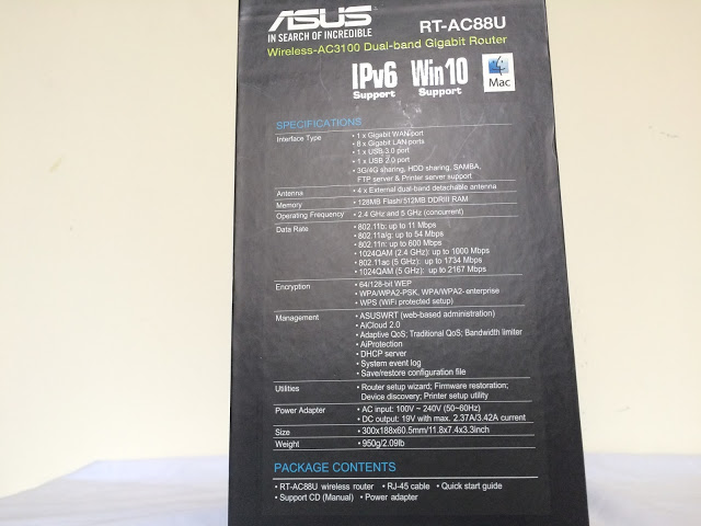 Unboxing & Review: ASUS RT-AC88U Wireless-AC3100 Dual-Band Gigabit Router 4