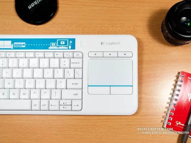 Unboxing & Review: Logitech Wireless Touch Keyboard K400 Plus 45