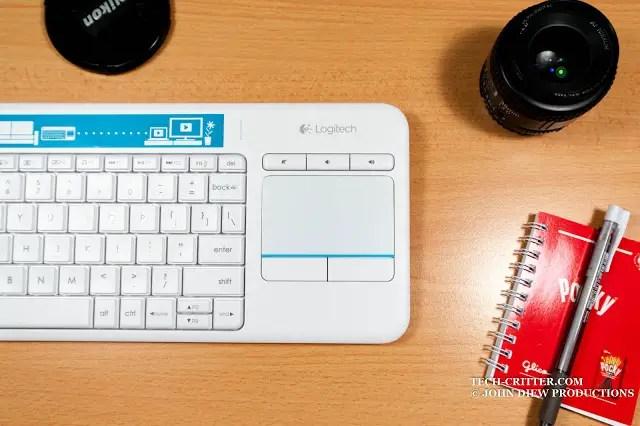Unboxing & Review: Logitech Wireless Touch Keyboard K400 Plus 57