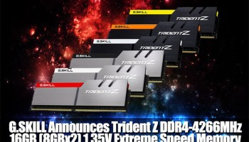 G SKILL Announces DDR4-4333MHz 16GB Memory Kit, Capable of