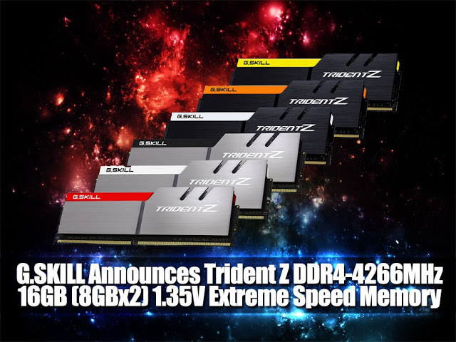 G.SKILL Announces Trident Z DDR4-4266MHz 16GB (8GBx2) 1.35V Extreme Speed Memory Kit 1