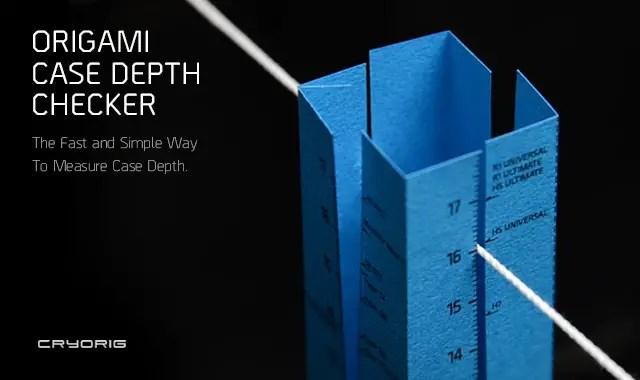 CRYORIG Origami Case Depth Checker, Case Compatibility Made Simple 5