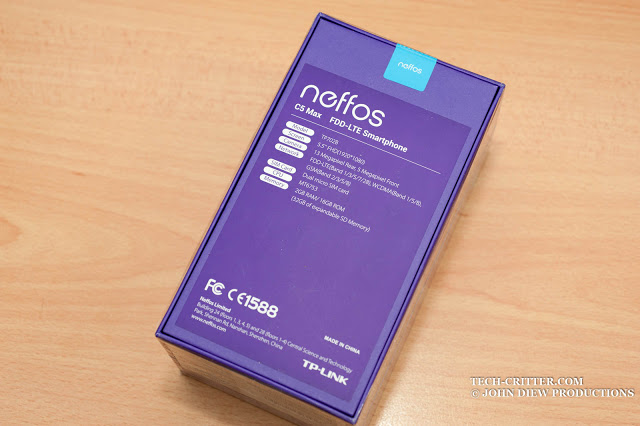 Unboxing & Review: Neffos C5 Max 3