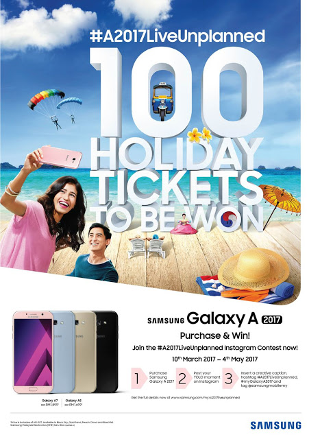 Win and Live Unplanned with Samsung Galaxy A Series (2017)! 6