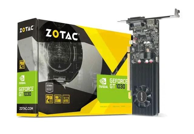 ZOTAC Released Its GeForce GT 1030 1