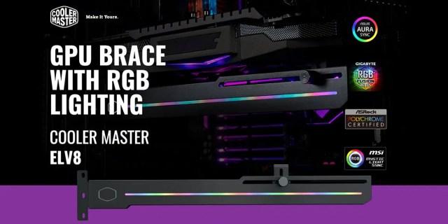 Cooler Master ELV8 ARGB Universal Graphics Card Holder Featured