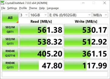 CrystalDiskMark Samsung 860 EVO 16GB (1)
