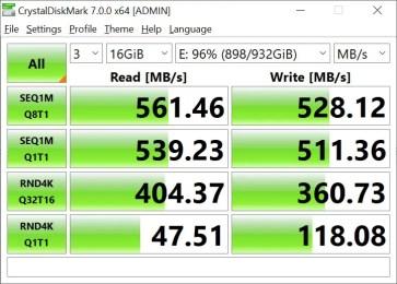 CrystalDiskMark Samsung 860 EVO 16GB (2)