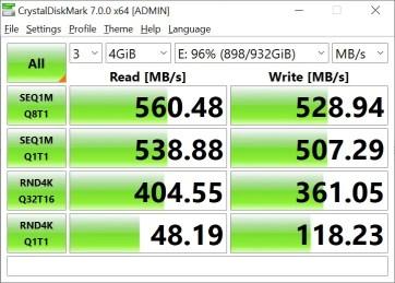 CrystalDiskMark Samsung 860 EVO 4GB (2)