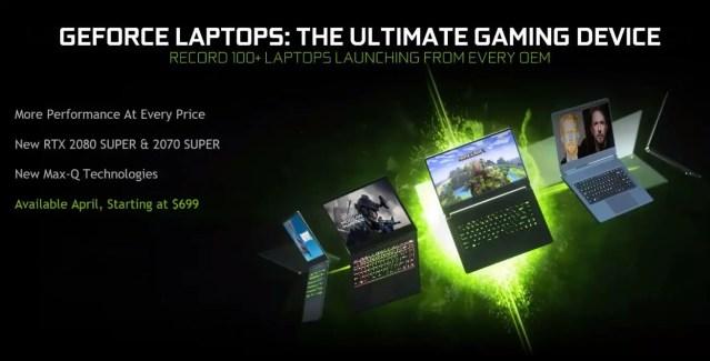 NVIDIA RTX SUPER Laptop Availability Price (1)