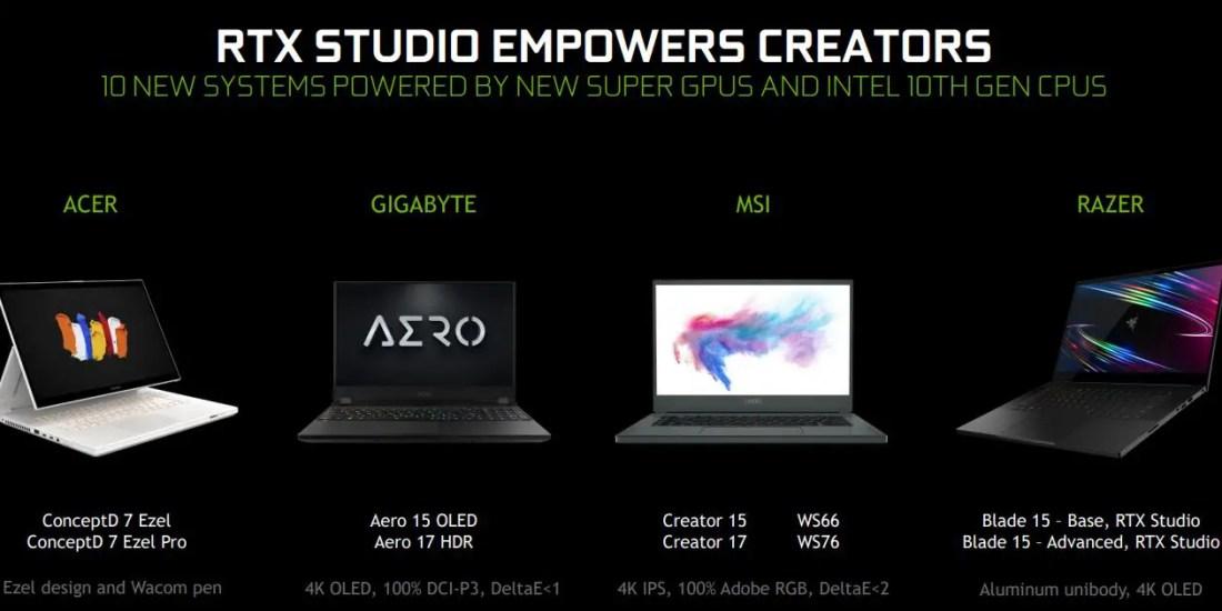 NVIDIA RTX SUPER Laptops RTX Studio (9)