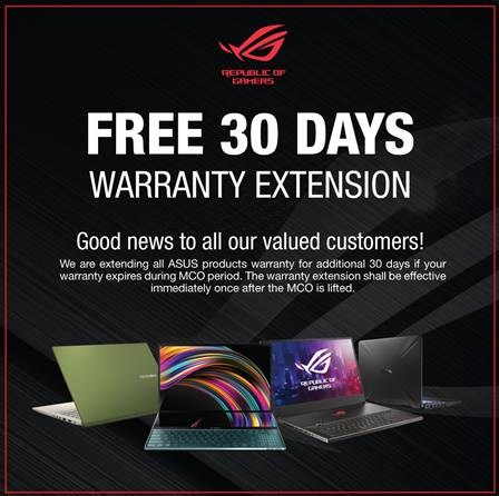 ASUS ROG products are covered as well