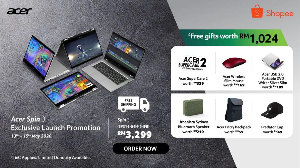 Acer Spin 3 Online Banner 2