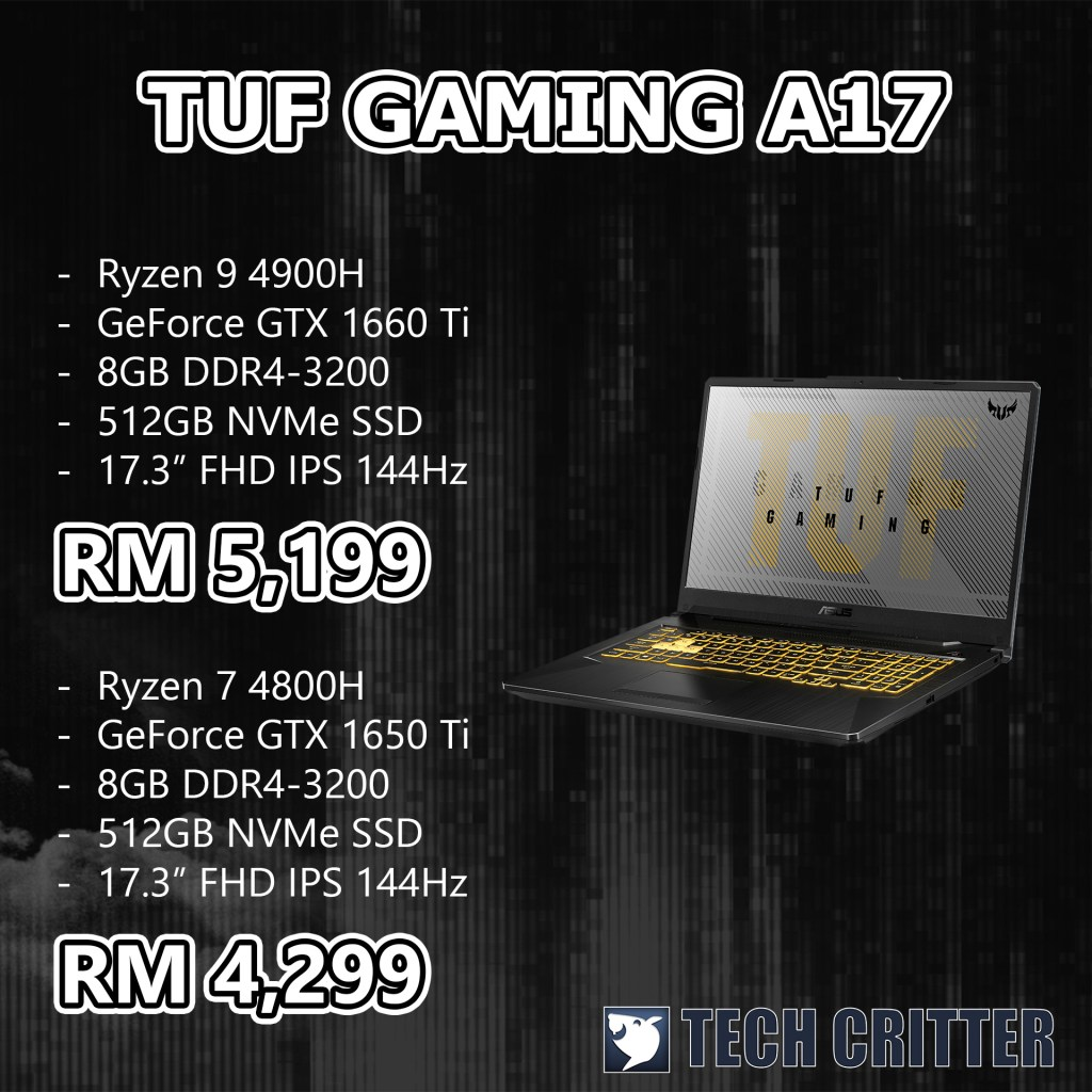 EXPORT TUF GAMING A17