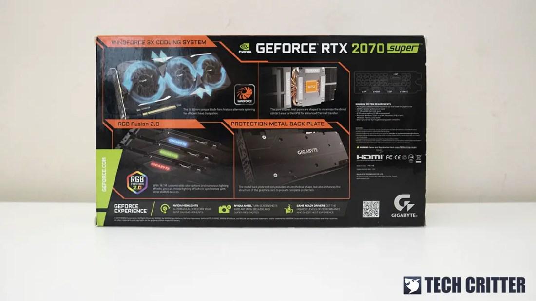 Gigabyte GeForce RTX 2070 SUPER Gaming OC 8G 1