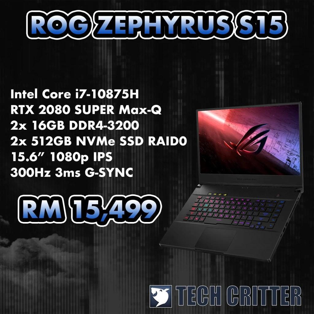 ROG Zephyrus S15 Specs
