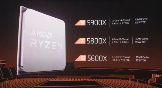 AMD Zen 3 Ryzen 5000 series desktop processors 7