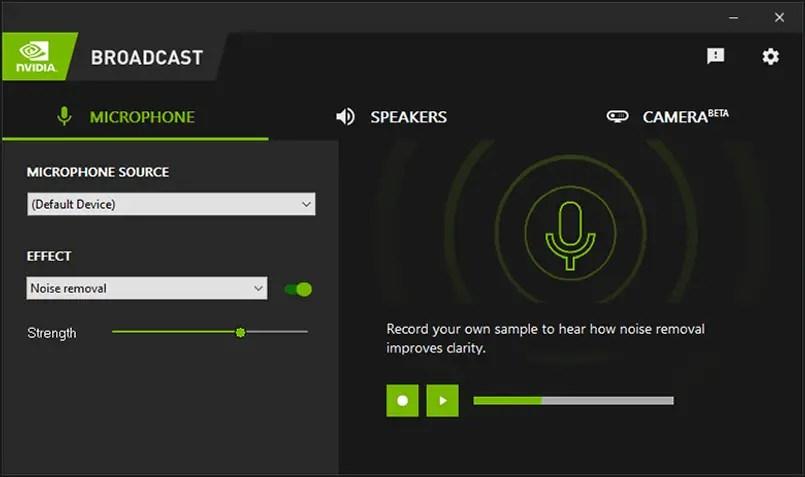 NVIDIA Broadcast App