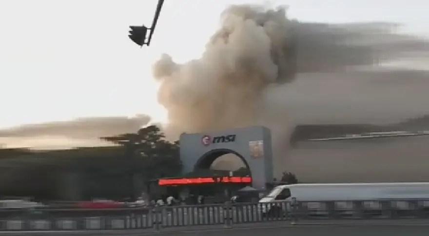 MSI Kunshan China plant on fire eteknix