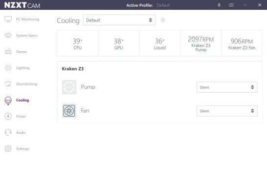 NZXT Kraken Z53 Slient Mode Intel Core i7 8700K 2
