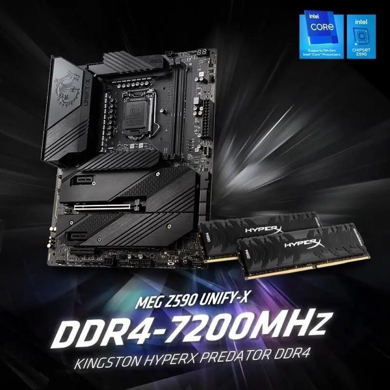 Kingston DDR4 7200Mhz World Record 2