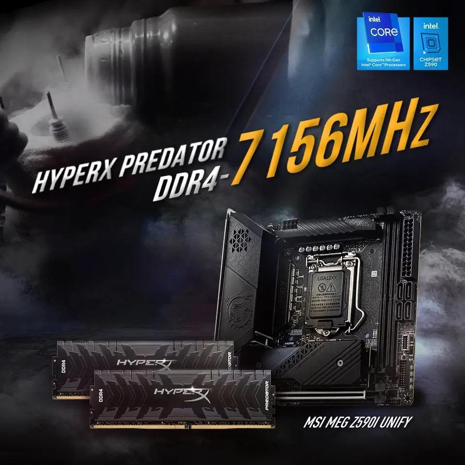 Kingston HyperX DDR4 World Record